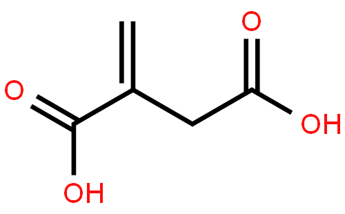 衣康酸结构式