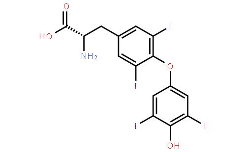 L-甲状腺素结构式