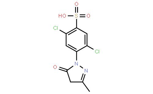 1-(2',5'-二氯-4'-磺酸苯基)-3-甲基-5-吡唑啉酮