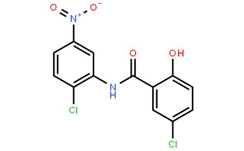 氯硝柳胺结构式