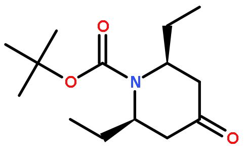 N-boc-2,6-二乙基-4-羰基哌啶结构式