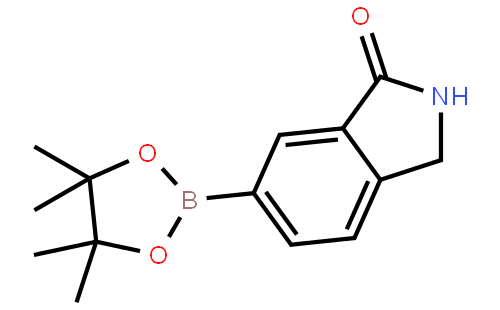 6-(4,4,5,5-tetramethyl-1,3,2-dioxaborolan-2-yl)isoindolin-1-one结构式
