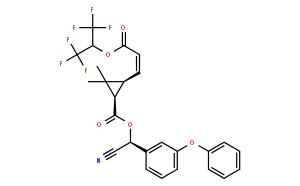Cyclopropanecarboxylicacid,2,2-dimethyl-3-[(1Z)-3-oxo-3-[2,2,2-trifluoro-1-(trifluoromethyl)ethoxy]-1-propen-1-yl]-,(S)-cyano(3-phenoxyphenyl)methyl ester, (1R,3S)-