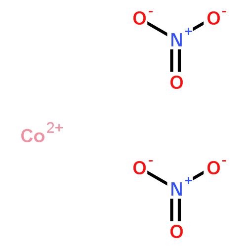 硝酸钴(cas:10141-05-6) 结构式图片