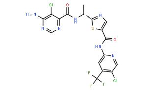 6-氨基-5-氯-N-[(1R)-1-[5-[[[5-氯-4-(三氟甲基)-2-吡啶基]氨基]羰基]-2-噻唑基]乙基]-4-嘧啶甲酰胺