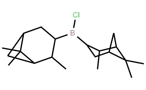 (+)-二异松蒎基氯硼烷结构式