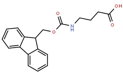 4-(芴甲氧羰基氨基)丁酸结构式