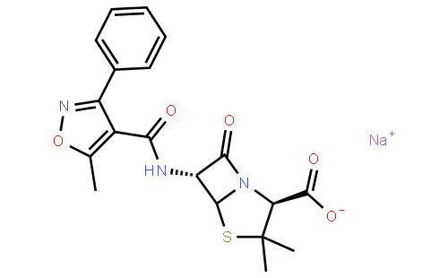 苯唑青霉素钠结构式  查看大图 cas:1173-88-2 分子式:c19h18n3nao5s