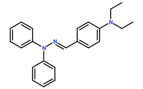 4-二乙氨基苯甲醛-n,n-二苯腙结构式