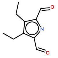 1H-Pyrrole-2,5-dicarboxaldehyde,3,4-diethyl-