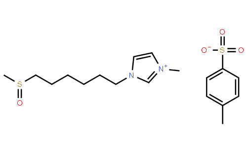 (甲基亚磺酰基)己基]咪唑对甲苯磺酰盐(cas:1352947-66-0) 结构式图片