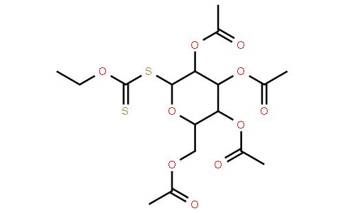 beta-d-四乙酰葡萄糖乙基黄原酸酯结构式
