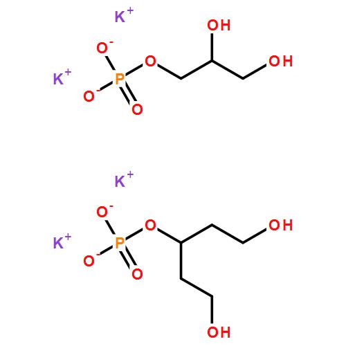 甘油磷酸钾(cas:1319-70-6) 结构式图片