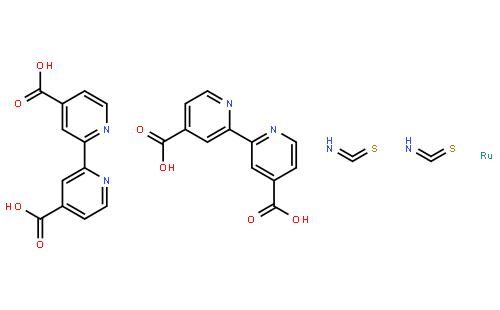 双(异硫氰酸)双(2,2'-二吡啶基-4,4'-二甲酸)钌(II), 95%