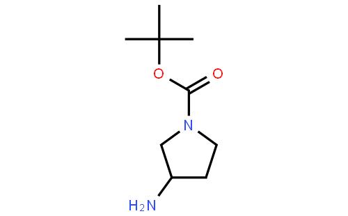(R)-(+)-N-叔丁氧羰基-3-氨基吡咯烷结构式