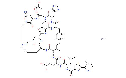 杆菌肽锌结构式