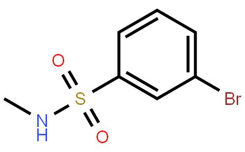 N-甲基-3-溴苯磺酰胺结构式