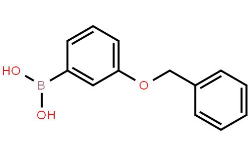 3-苯甲氧基苯硼酸结构式