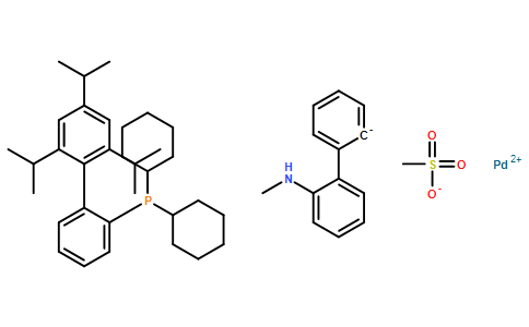 甲烷磺酸(2-二环己基膦基-2',4',6'-三-异丙基-1,1'-联苯基)(2'-甲胺基-1,1'-联苯-2-基)钯(II)