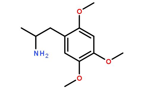 2,4,5-三甲氧基苯丙胺盐酸盐结构式