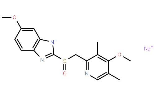 分子结构图; 埃索美拉唑钠_济南宏方德医药科技有限公司销售十部
