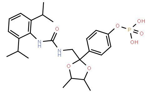 Urea, N-[2,6-bis(1-methylethyl)phenyl]-N'-[[(4R,5R)-4,5-dimethyl-2-[4-(phosphonooxy)phenyl]-1,3-dioxolan-2-yl]methyl]-