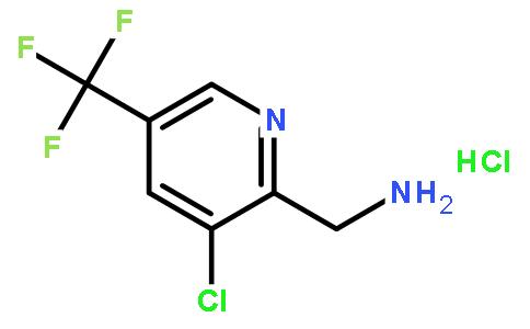 [3-氯-5-(三氟甲基)-2-吡啶]甲胺盐酸盐结构式