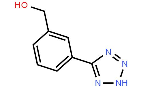 5-(3-羟甲基苄基)-1h-四唑(cas:179057-20-6) 结构式图片