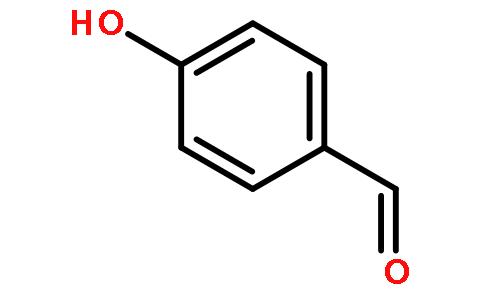 对羟基苯甲醛(cas:123-08-1) 结构式图片