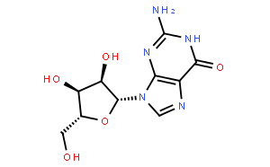 鸟嘌呤核苷(CAS:118-00-3)结构式图片