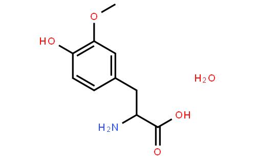 3 - O -甲基- L -多巴一水合物结构式