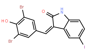 2H-Indol-2-one,3-[(3,5-dibromo-4-hydroxyphenyl)methylene]-1,3-dihydro-5-iodo-