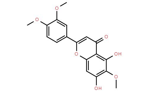 异泽兰黄素结构式