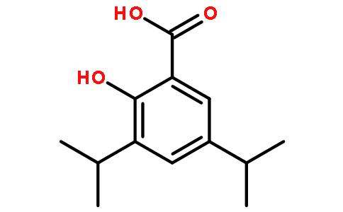 5-二异丙基邻羟基苯甲酸结构式