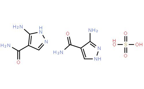 3-氨基-4-吡唑甲酰胺半硫酸盐结构式