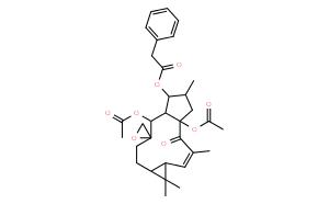 Benzeneacetic acid,(1aR,2'R,2E,4aR,6S,7S,7aR,8S,11aS)-4a,8-bis(acetyloxy)-1,1a,4,4a,5,6,7,7a,8,10,11,11a-dodecahydro-1,1,3,6-tetramethyl-4-oxospiro[9H-cyclopenta[a]cyclopropa[f]cycloundecene-9,2'-oxiran]-7-ylester