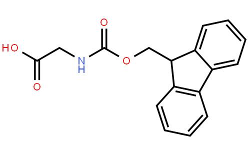 N-Fmoc-甘氨酸结构式
