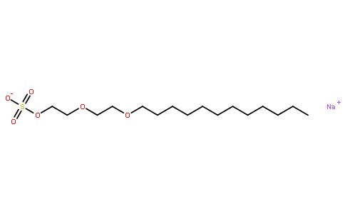 月桂醇聚醚硫酸酯钠盐结构式