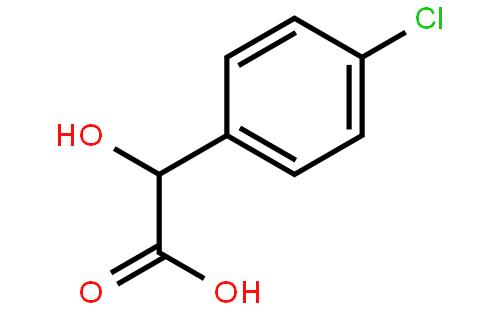 (R)-4-氯扁桃酸结构式