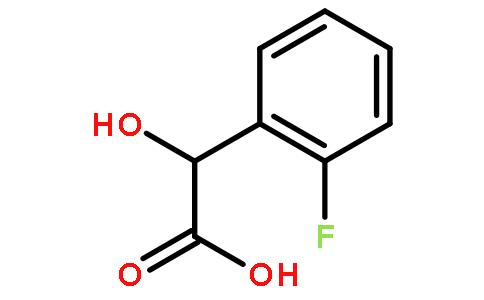 D-邻氟扁桃酸结构式