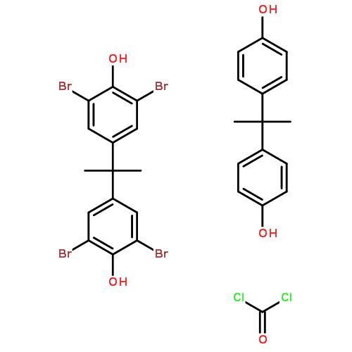 四溴双酚-A 聚碳酸酯结构式