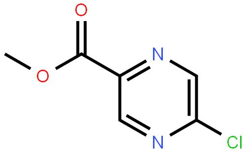 5-氯吡嗪-2-羧酸甲酯结构式