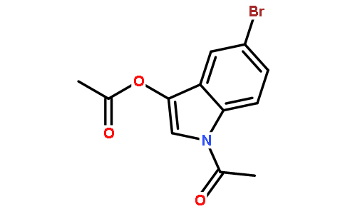5-溴吲哚酚二醋酸酯结构式