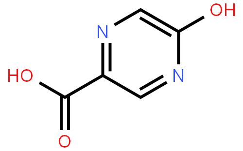 5-羟基吡嗪-2-羧酸结构式