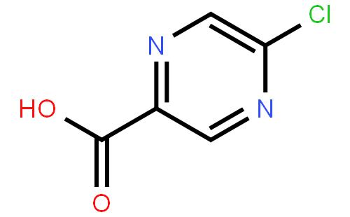 5-氯吡嗪-2-羧酸结构式