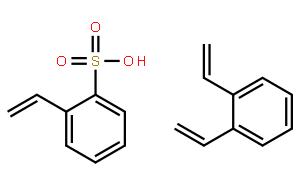 乙烯基苯磺酸与二乙烯基苯的聚合物