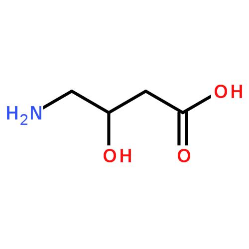 α-羟基-γ-氨基丁酸结构式