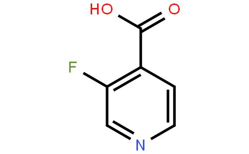 3-氟吡啶-4-羧酸结构式