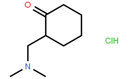 2-二甲氨基甲基-1-环己酮盐酸盐结构式