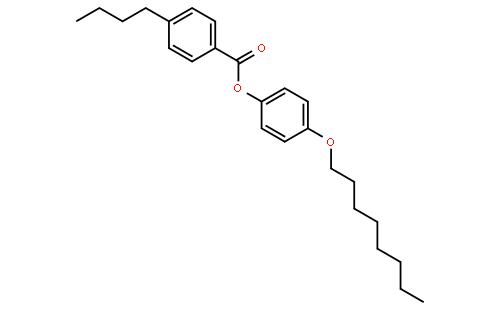4-正丁基苯甲酸 4-辛氧基苯酯结构式